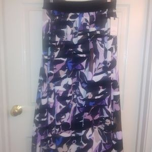 Dana Buchman long floral skirt.